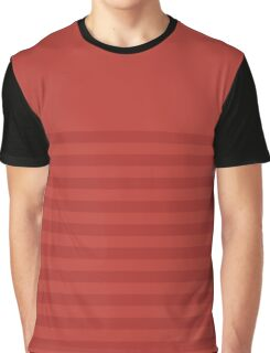 Retro Inspired Striped Aurora Red Fall 2016 Graphic T-Shirt