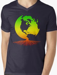 Mother Earth Roots Mens V-Neck T-Shirt