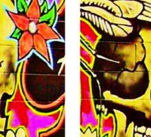 Flower in the Skull Sticker