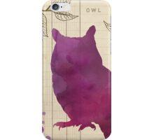 Watercolor Owl iPhone Case/Skin