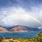 Rainbow & Sunshine - Lake Wakatipu, NZ by SeeOneSoul