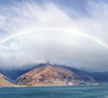 Rainbow & Sunshine - Lake Wakatipu, NZ Sticker