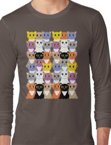 Only A Glaring Of Cats Long Sleeve T-Shirt