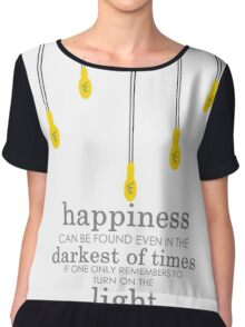happiness // albus dumbledore Chiffon Top