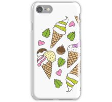 cartoon ice cream cones  iPhone Case/Skin