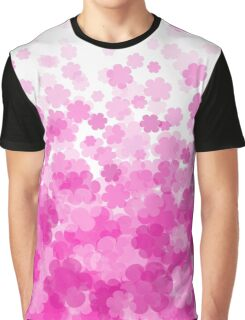 Pink Blossom Flower Graphic T-Shirt