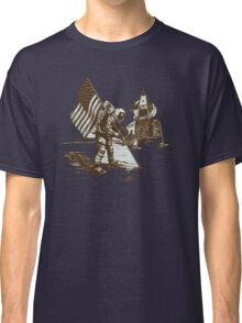 Apollo Moon Landing Vintage Space Cartoon Classic T-Shirt