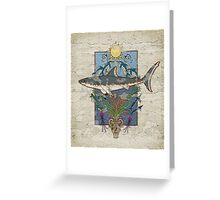 Great White Guardian - Minoan Fresco Greeting Card