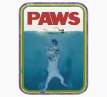 Paws Jaws Movie parody T Shirt Kids Tee