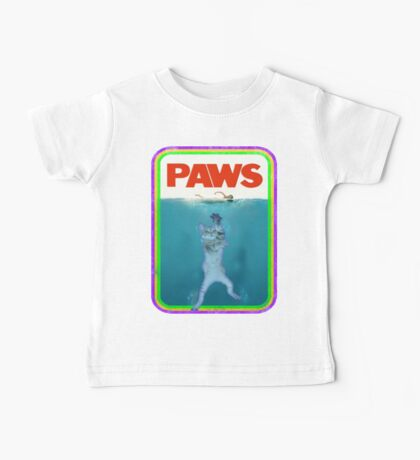 Paws Jaws Movie parody T Shirt Baby Tee