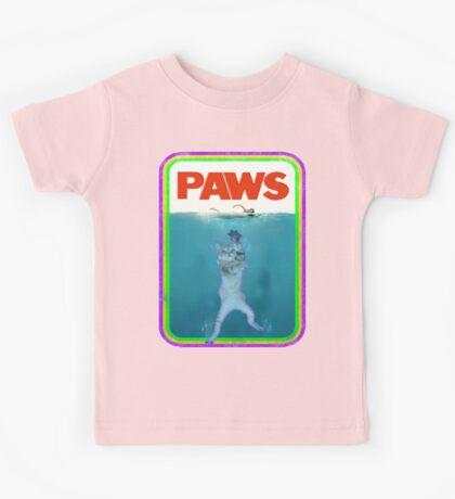 Paws Jaws Movie parody T Shirt Kids Tee