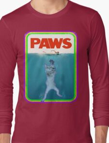 Paws Jaws Movie parody T Shirt Long Sleeve T-Shirt