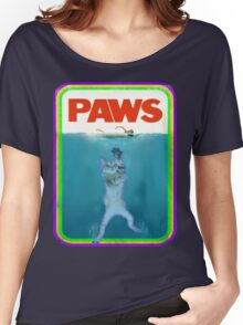 Paws Jaws Movie parody T Shirt Women's Relaxed Fit T-Shirt