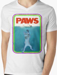 Paws Jaws Movie parody T Shirt Mens V-Neck T-Shirt