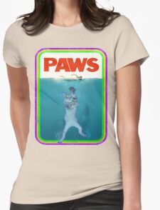 Paws Jaws Movie parody T Shirt Womens Fitted T-Shirt