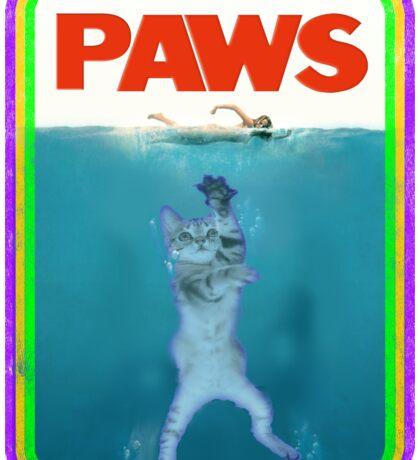 Paws Jaws Movie parody T Shirt Sticker