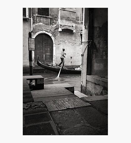 Signore Gondolier Photographic Print