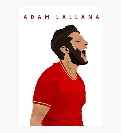 Adam Lallana   Liverpool Photographic Print