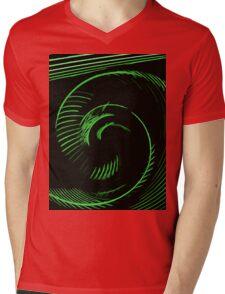 Green spiral, abstraction, visual, optical illusion Mens V-Neck T-Shirt