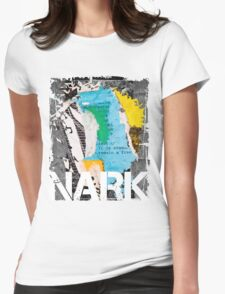 NARK Remain A Free White Logo Womens Fitted T-Shirt
