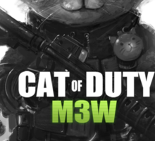 Cat of Duty Sticker