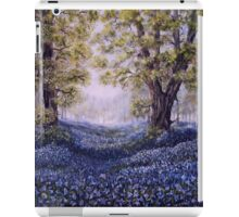 """Mary's Bluebells"" - oil painting iPad Case/Skin"