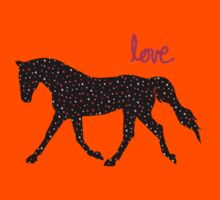 Cute Horse, Hearts and Love Kids Tee