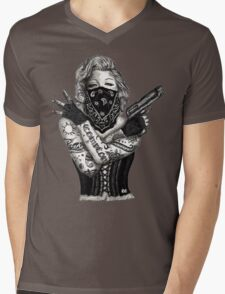 Marilyn Monroe 'Gangstified' Mens V-Neck T-Shirt