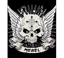 Rebel Skull Photographic Print
