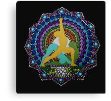 Ashtanga yoga dot art photography Canvas Print