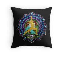 Ashtanga yoga dot art photography Throw Pillow