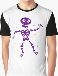 Funny Skeleton isolated on white Graphic T-Shirt