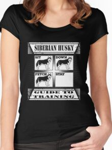 Husky - Siberian Husky Guide To Training T-shirts Women's Fitted Scoop T-Shirt