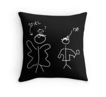 Misha Collins Destiel Doodle white Throw Pillow