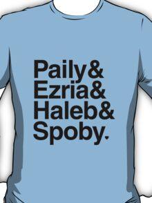 PLL Ships - black text T-Shirt