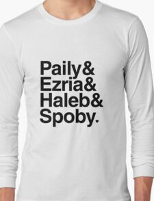 PLL Ships - black text Long Sleeve T-Shirt