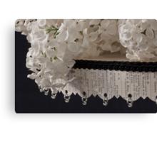 Lilac Blossom On Beaded Pedestal Canvas Print