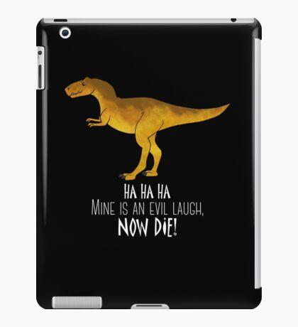 Evil laugh - darker backgrounds iPad Case/Skin