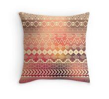 Aztec pattern 01 Throw Pillow
