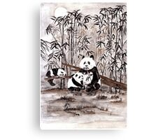 Bamboo  picnic Canvas Print