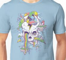 Flying Rainbow skull Island Unisex T-Shirt