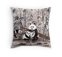 Bamboo  picnic Throw Pillow