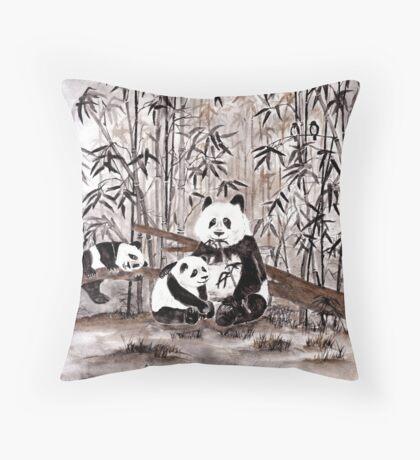 Bamboo  picnic Throw Pillow