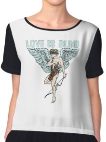 Love is Blind Cute Cool Vintage Cartoon Cupid T-shirts And Gifts Chiffon Top