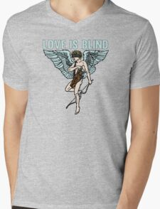 Love is Blind Cute Cool Vintage Cartoon Cupid T-shirts And Gifts Mens V-Neck T-Shirt