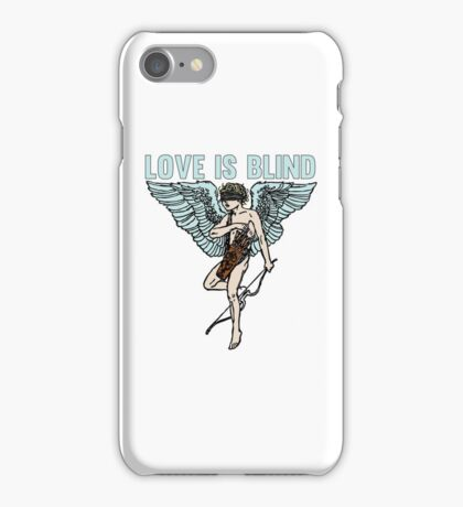 Love is Blind Cute Cool Vintage Cartoon Cupid T-shirts And Gifts iPhone Case/Skin