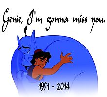 RIP Robin Williams - Genie, we're gonna miss you by suzeejobs