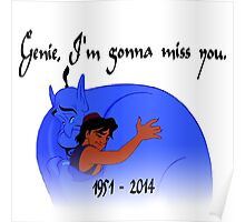 RIP Robin Williams - Genie, we're gonna miss you Poster