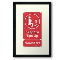 Ski Tips Up! Time to ski! Snowbasin! Framed Print