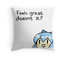Cirno Feels Great Throw Pillow